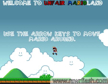 Jogos do mario, habilidade, hardcore, aventura: Unfair Mario.