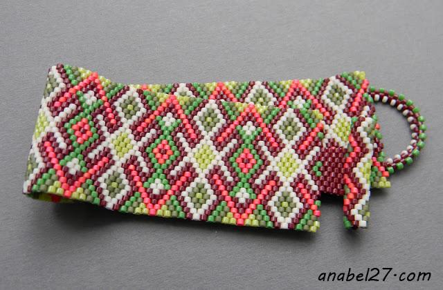 украшения из бисера в этническом стиле купить оригинальный браслет на руку