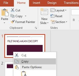 Cara Copy Paste Slide Presentasi Powerpoint - Pensilajaib.com