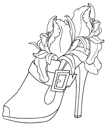 lava iris 400 coloring pages | 1000+ images about Floral Digi Stamps on Pinterest ...