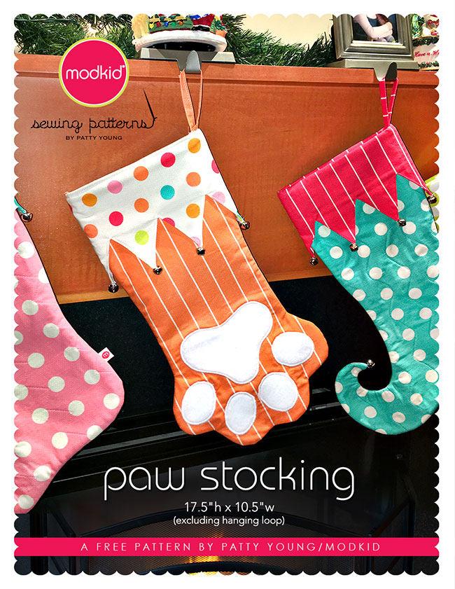 MODKIDBOUTIQUE: Free Paw Stocking Pattern