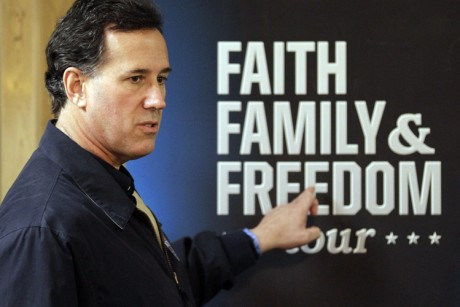 Does Santorum believe the Pope is Infallible?