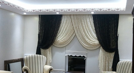 black and white curtains for modern living room windows