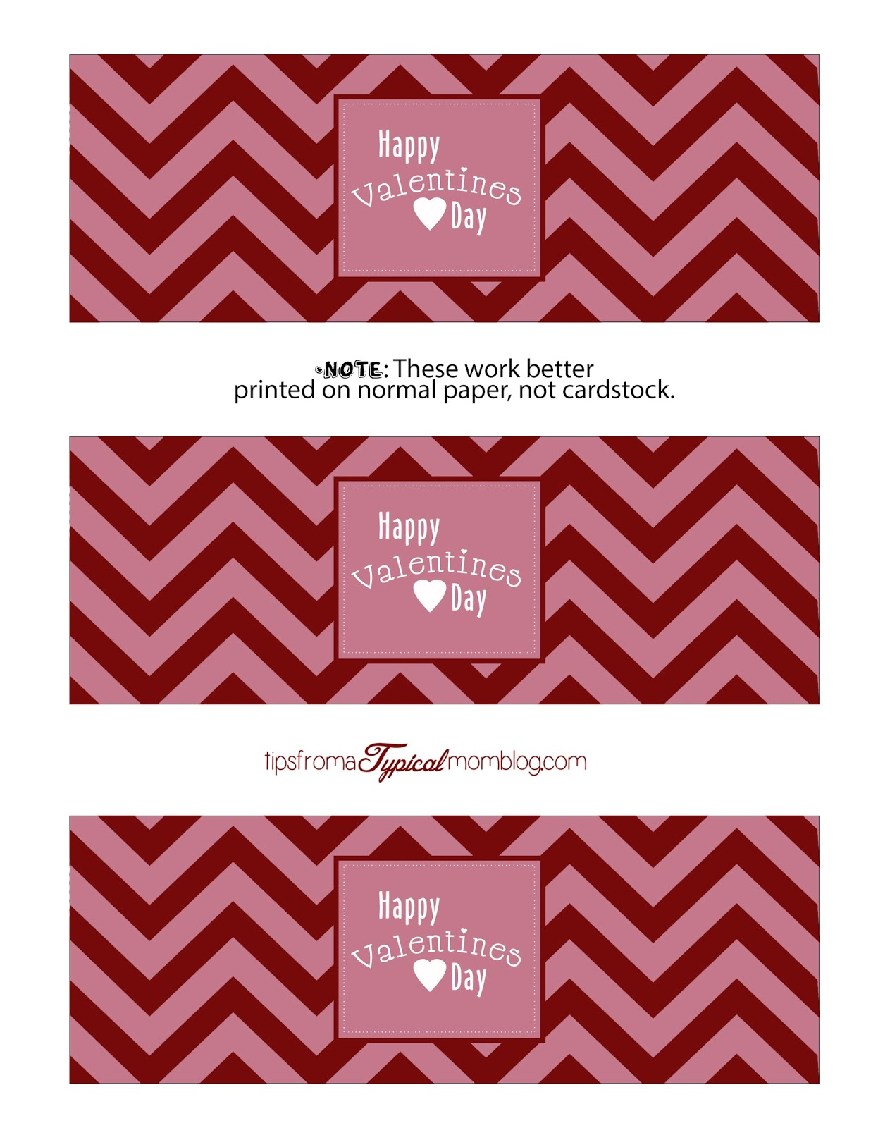 Free Valentines Day Chevron Party Printables Tips from a Typical Mom – Valentine Day Label