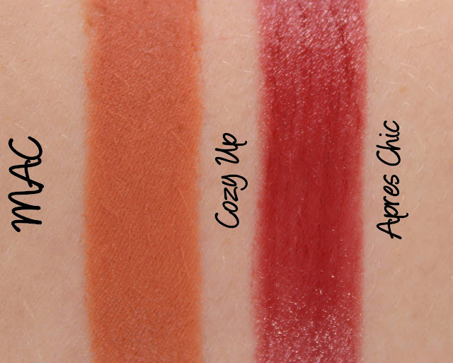 MAC MONDAY | Apres Chic - Apres Chic & Cozy Up Lipstick Swatches & Review