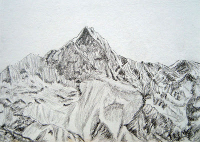 Sketch of Machhapuchhre