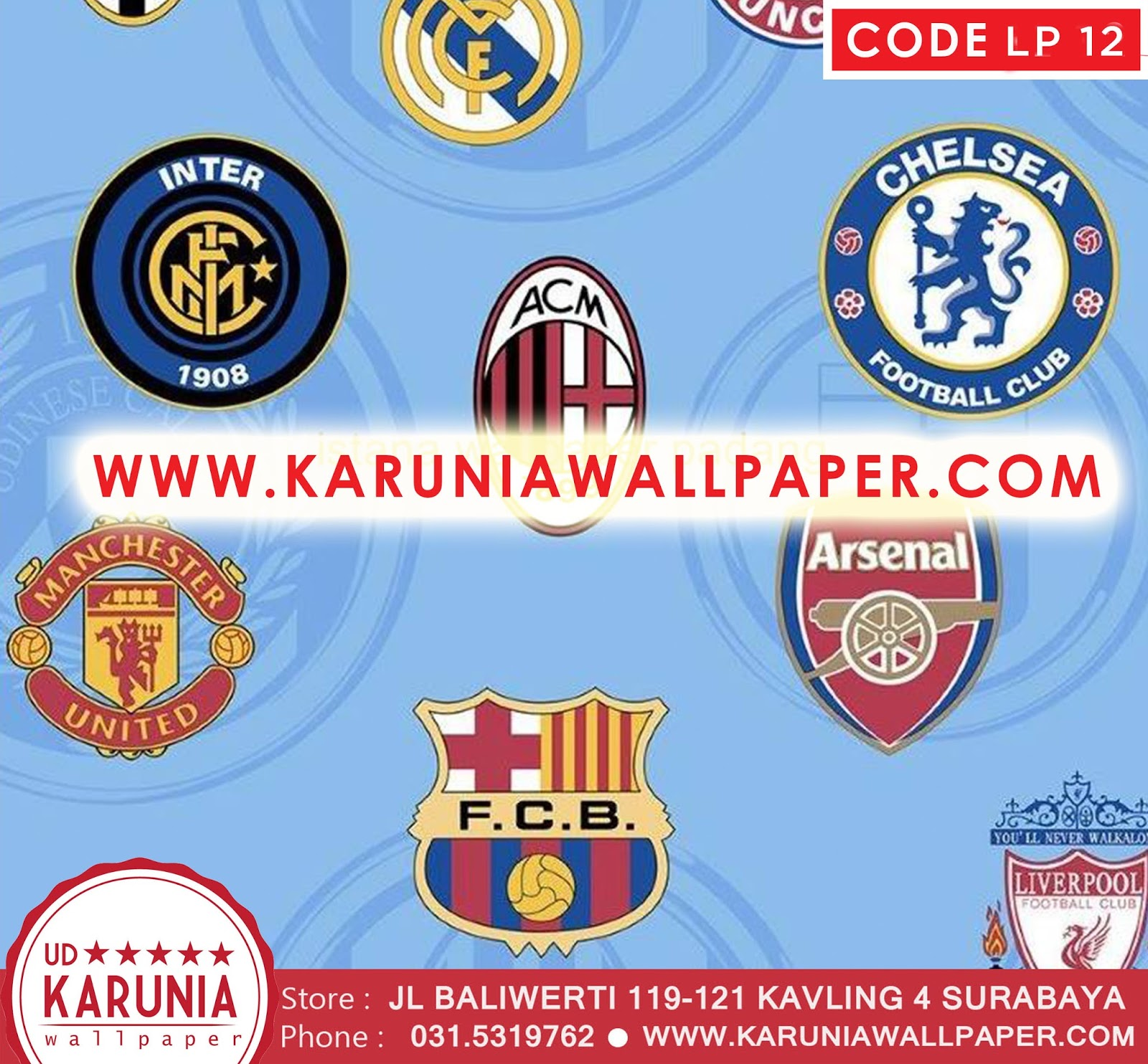 jual wallpaper bola