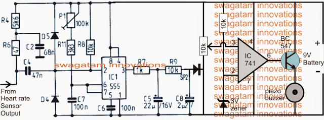 Hear Rate Counter Monitor Circuit