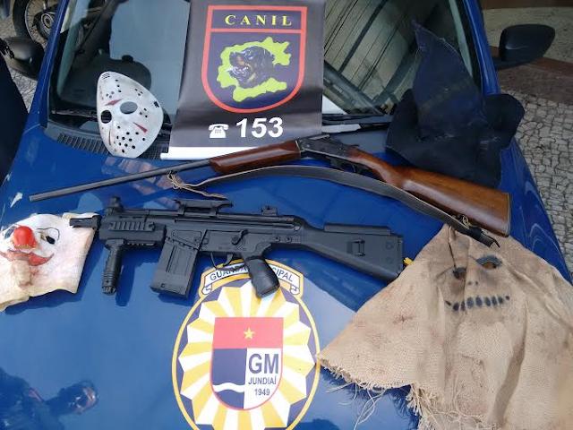 Canil da Guarda Municipal de Jundiaí encontra armas e máscaras em residência