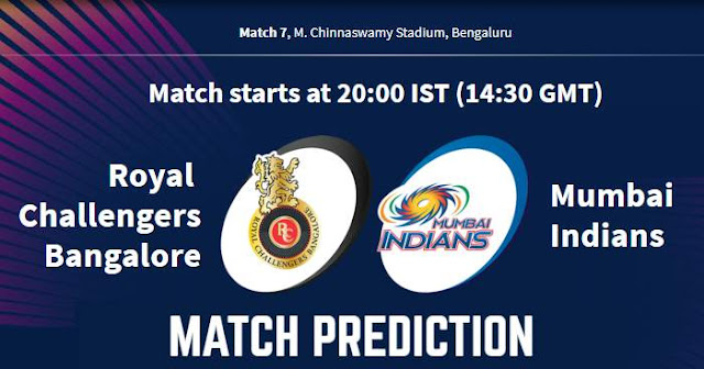 IPL 2019 Match 7 RCB vs MI Match Prediction, Probable Playing XI Who Will Win