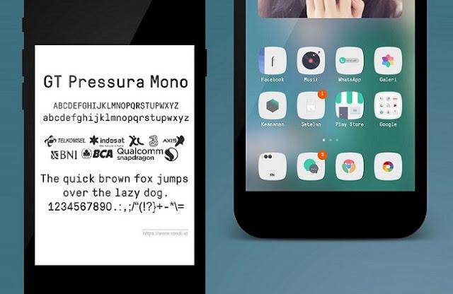 GT Pressura Mono Unicode Font MTZ for MIUI Xiaomi Redmi