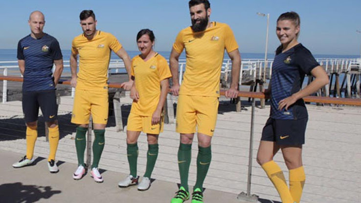 huge discount 940dc 4f434 Australia 2016-17 Home and Away Kits Released - Footy Headlines