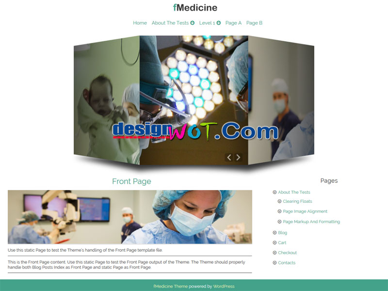 fMedicine Responsive WordPress Theme
