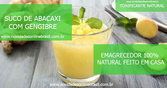 Suco Detox : Abacaxi com Gengibre emagrecedor e tonificante 100% natural feito em casa , novidades online brasil , saúde