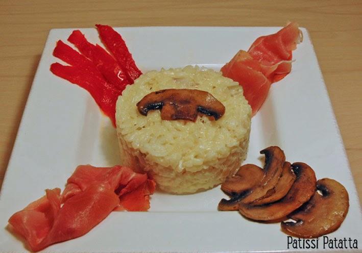 recette de risotto aux légumes et jambon