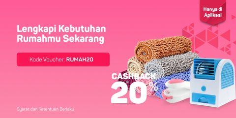Bukalapak - Voucher Cashback 20% Peralatan Rumah Tangga