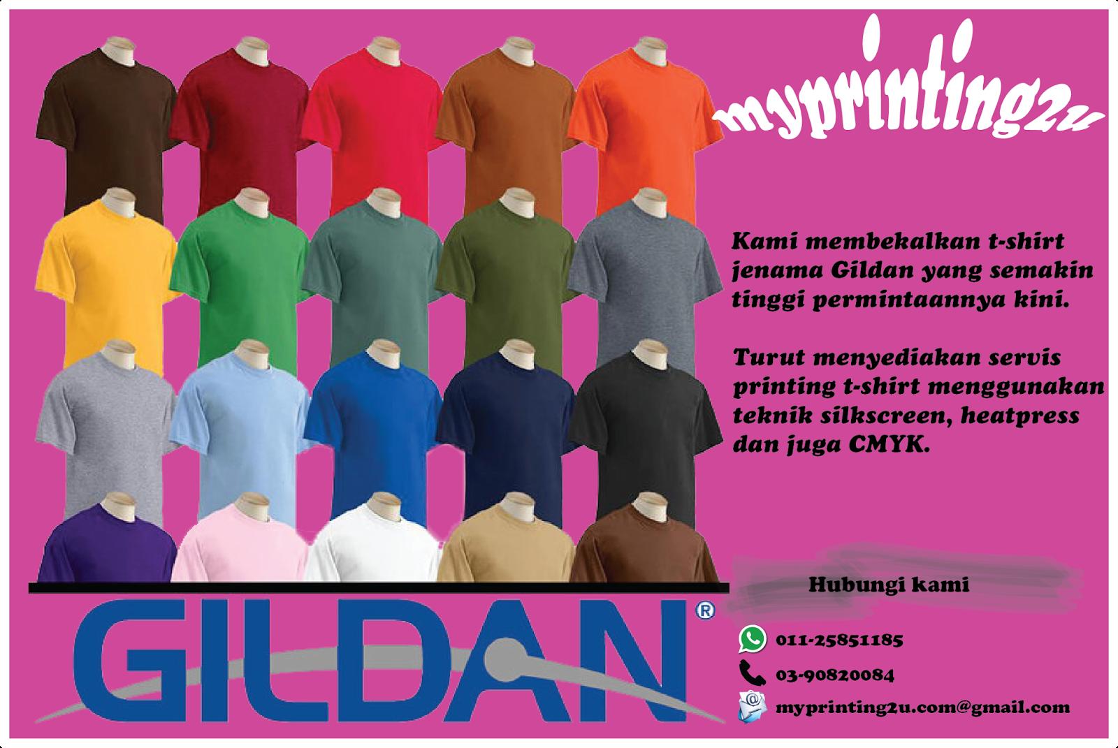 Gildan Tshirt at My printing2u
