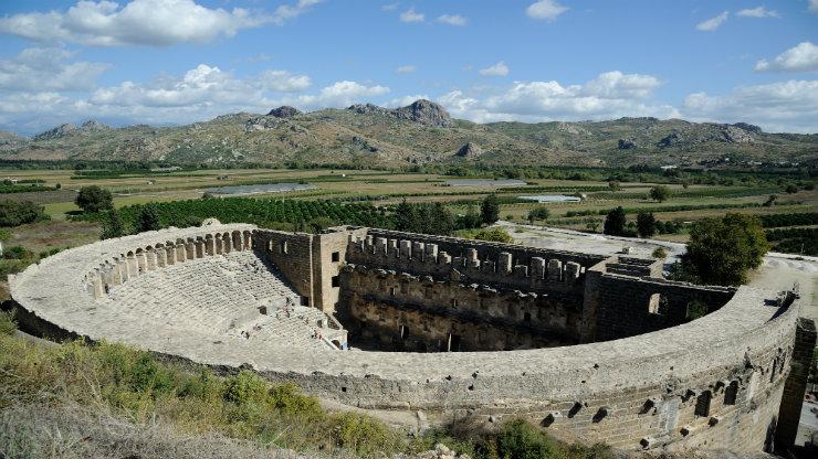 Άσπενδος, Μικρά Ασία, αρχαίο θέατρο 7.000 θέσεων!