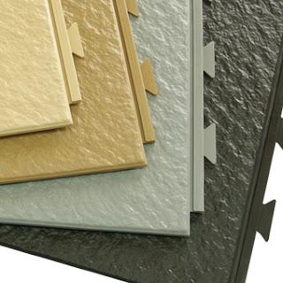 Greatmats HiddenLock Slate Top Plastic Tiles