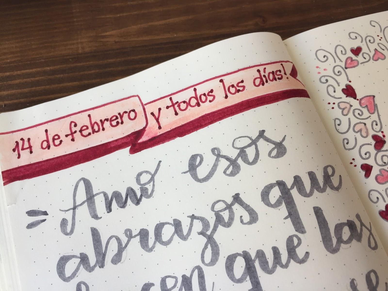 BULLET JOURNAL: DIA DE LOS ENAMORADOS