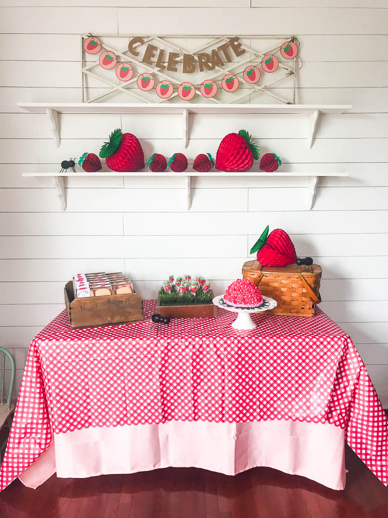 vintage strawberry picnic party