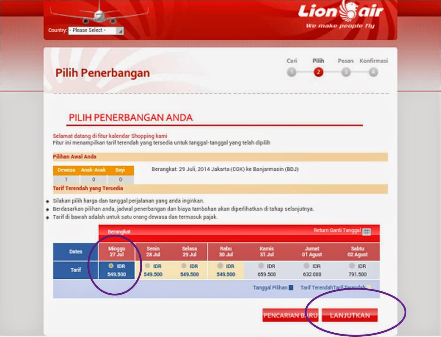 Cara Membeli Tiket Lion Air Online - Mari Ngenet