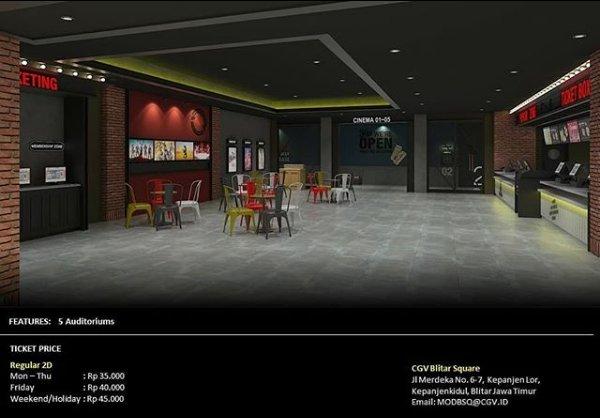 Harga Tiket di CGV Blitar Square Mall