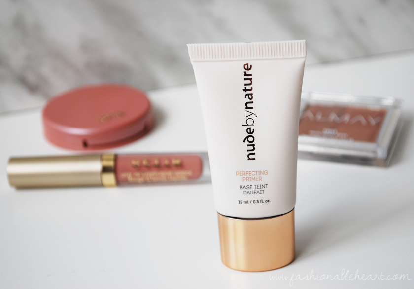 bbloggers, bbloggerca, nude by nature, shoppers drug mart, perfecting primer, review, reaction, bumps, dry skin, applicator, packaging, allergic, face primer, makeup, hydrated, soft skin