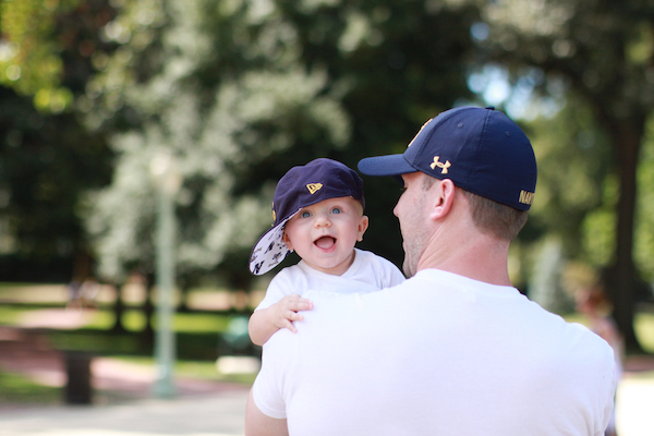 Visiting the Naval Academy at six months old