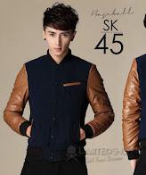 limited shoping sk45 jaket baseball slimfit jacket