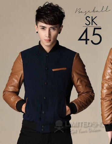 limited shoping sk45 jaket baseball slimfit jacket