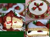 Tarta Rellena de Mousse de Queso y Fresas