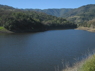 Almaden Reservoir near San Jose, California