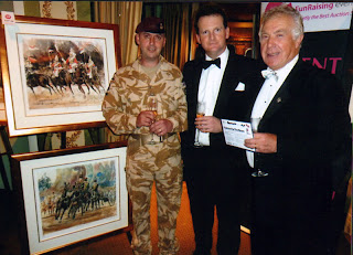 Gordon with Charlie Rodway and auctioned paintings