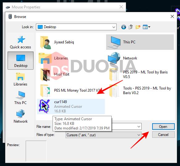 mengganti kursor mouse windows 7