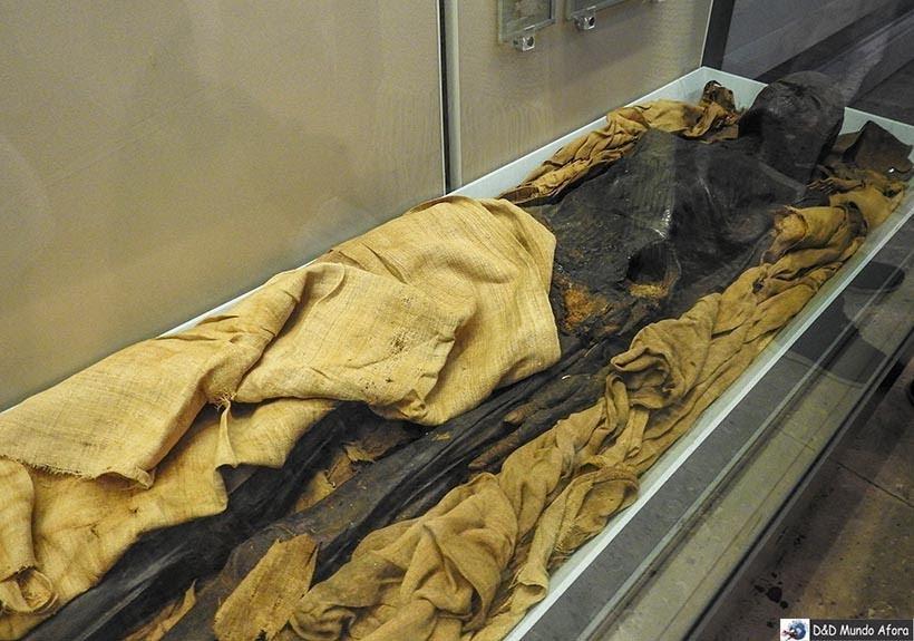 Múmia egípcia no Museu Britânico de Londres
