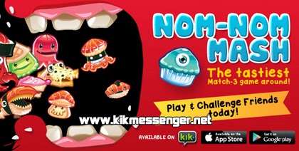 Disfruta del juego Nom-Nom Mash en Kik Messenger