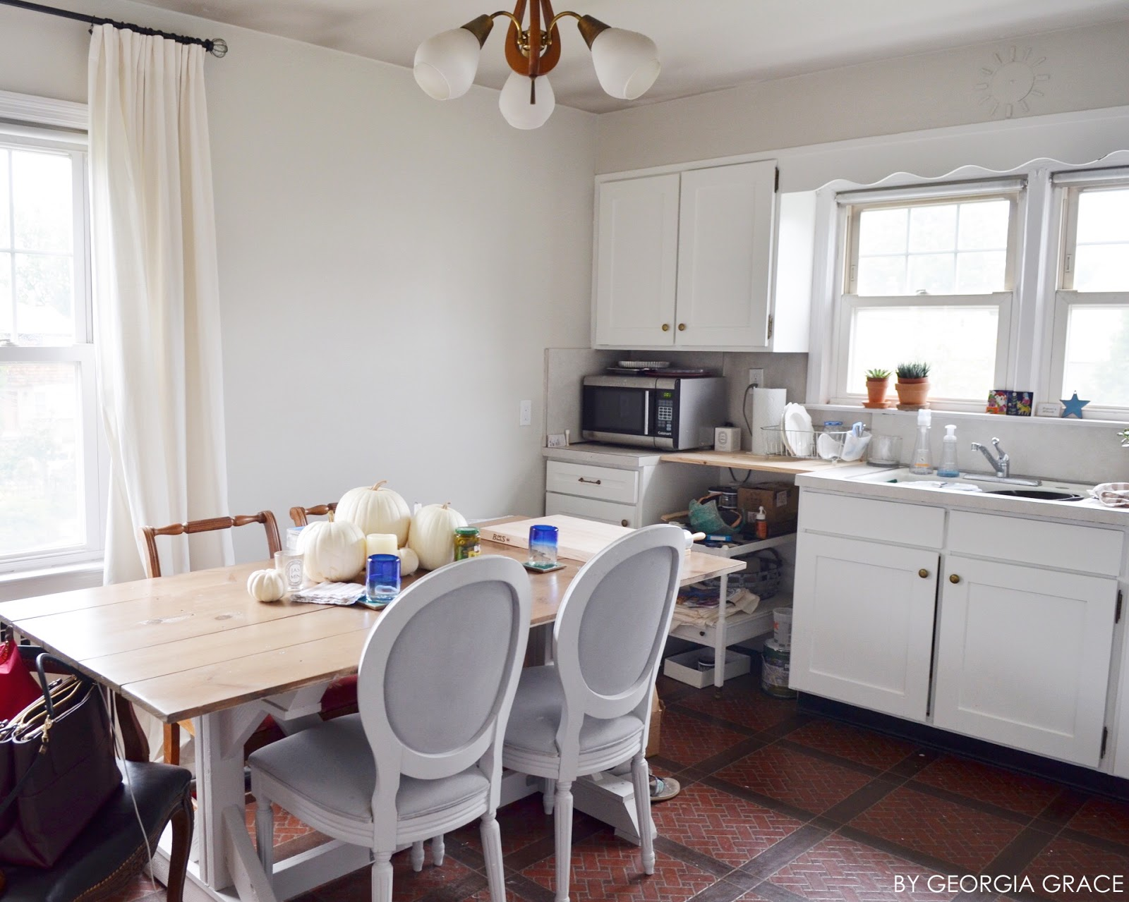 Kitchen: New Painted Cabinets & Walls