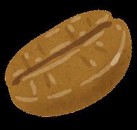 コーヒー豆のイラスト(ミディアムロースト)