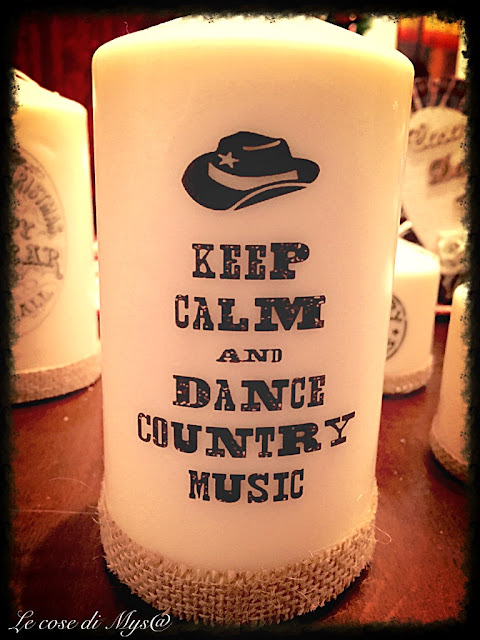 Country music candle