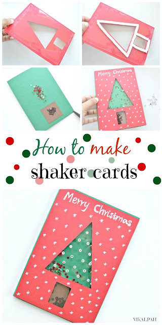 DIY Christmas shaker card