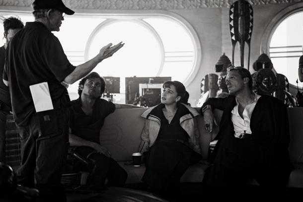 Ron on set with Alden  Ehrenreich, Emilia Clarke, and Paul Bettany