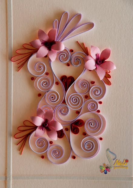 Neli Quilling Art Cards - With Love.- 2