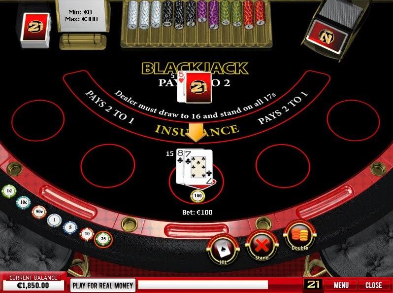 21 Nova Blackjack Screen