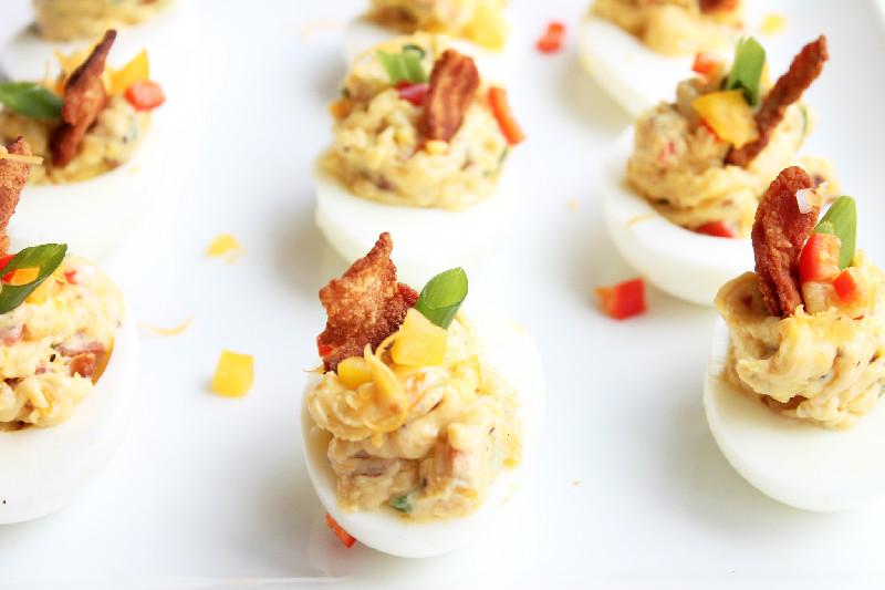 Creole Contessa: Bacon and Cheese Deviled Eggs
