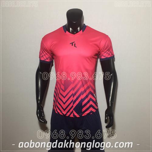 Áo bóng đá không logo TL Raki màu hồng