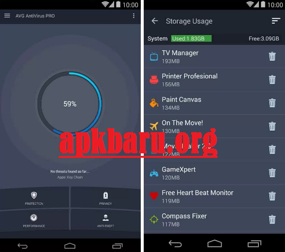 AVG Antivirus Pro v6.7.1 Apk Terbaru For Android