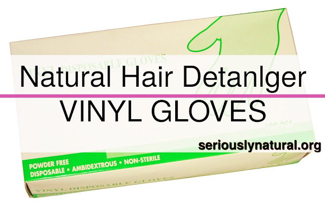 Click here to buy SALON CARE CLEAR MEDIUM VINYL POWDER GLOVES as a great detangler.