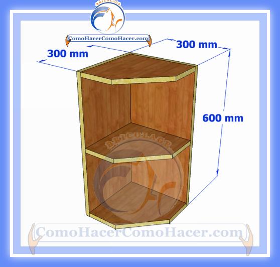 Esquinero de cocina plano y medidas | Web del Bricolaje Diseño Diy