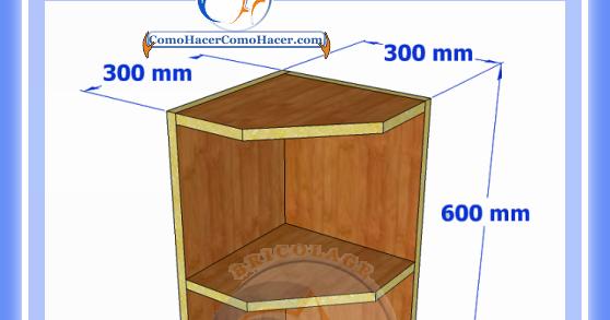 Esquinero de cocina plano y medidas web del bricolaje for Muebles esquineros bajos de cocina